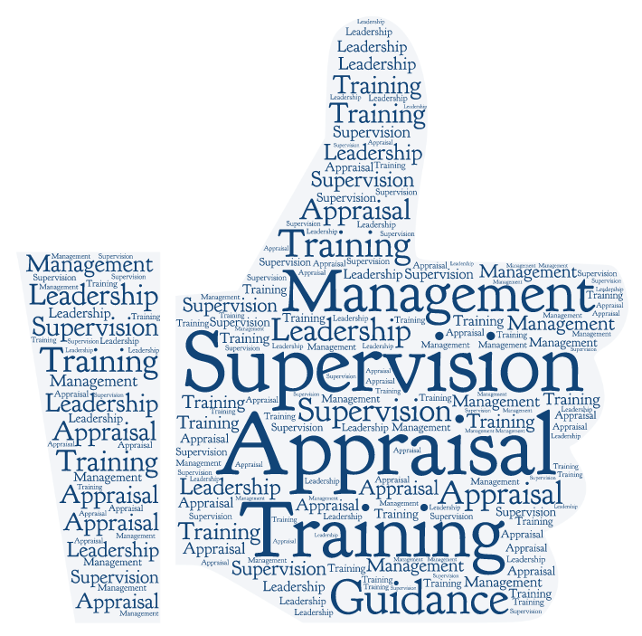 thumbs up made up of supervision words