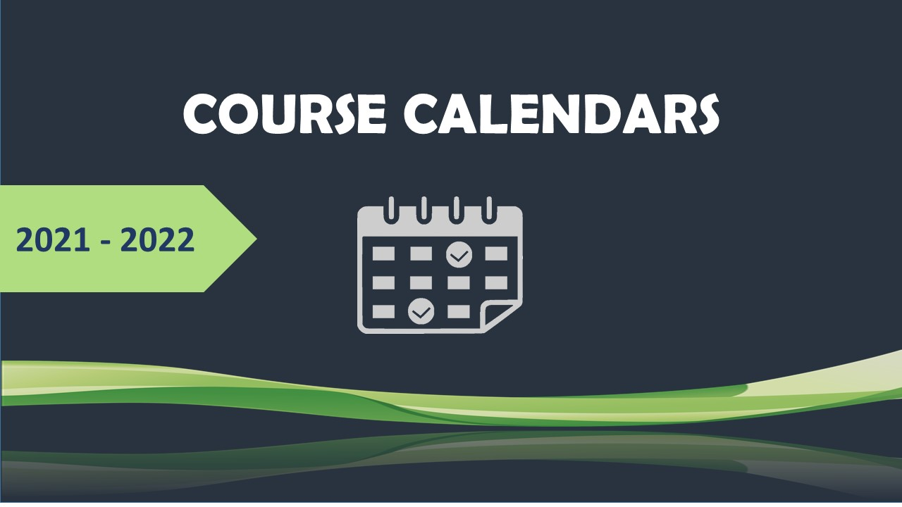 course calendars 2020 2021